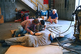 Hal Stowers worked closely, hands on with the fabricators.